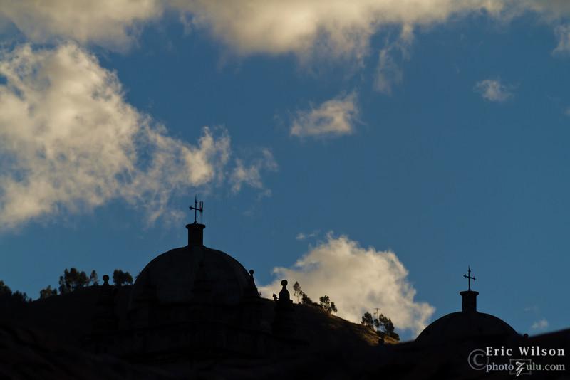 Distant Cusco churches.
