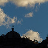 Distant Cusco churches.