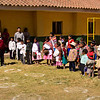 """Peru's national anthem.<br><br><span class=""""subcaption"""">(An ad hoc tradition for the week was after the village sung the national anthem of Peru we would sing ours. A true meeting of cultures.)</span>"""