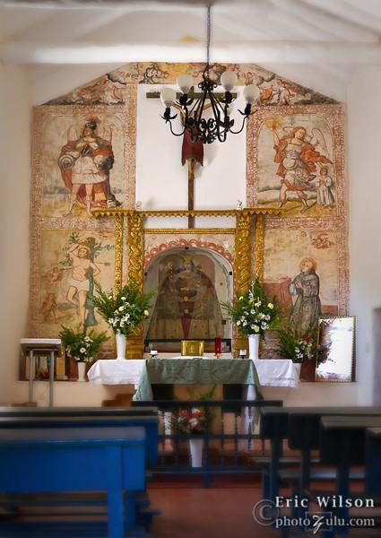 Punacancha church - interior.