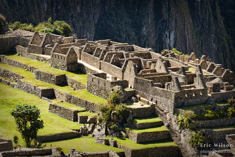 "Machu Picchu worker class habitations. &nbsp;<br><br><span class=""subcaption""> (Because the building style is of lower quality for this section, experts speculate that the lower-class residents lived here.)</span>"