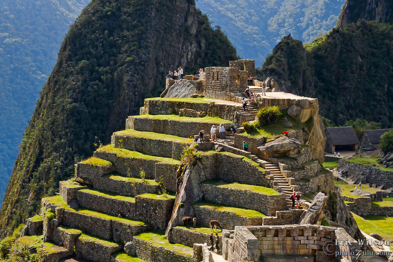 """Intihuatana, Machu Picchu &nbsp;<br><br><span class=""""subcaption""""> (This high point in the city is believed to be a focal area for astronomical observation which was clearly important to the Incas and a center point of Machu Picchu itself.)</span>"""