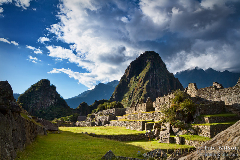 """""""Main Square"""" leading up to Huayna Picchu."""