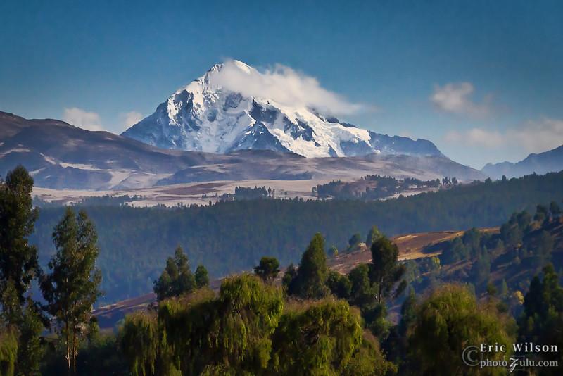 Distant peak from Casacunca