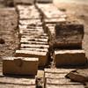Adobe brick-making at Lamay village.