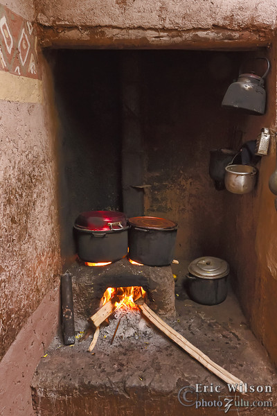 Smokeless stove.