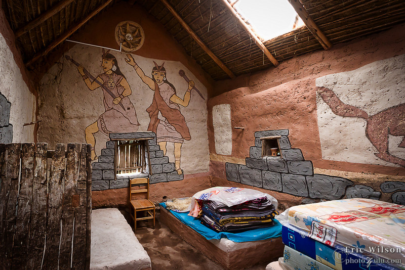"""Inside the new visitor-friendly large home.&nbsp;<br><br><span class=""""subcaption"""">(I was told this village even has hopes of accomodating visitors one day, such as high-Andes tourists, as a way to make money.)</span>"""