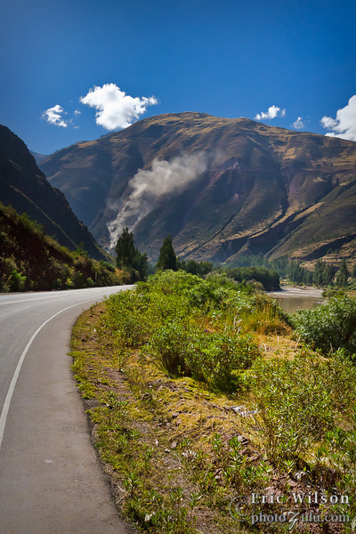 Through Sacred Valley, toward the Lamay district's villages.