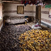 Maize harvest with off-floor sleeping accomodations.