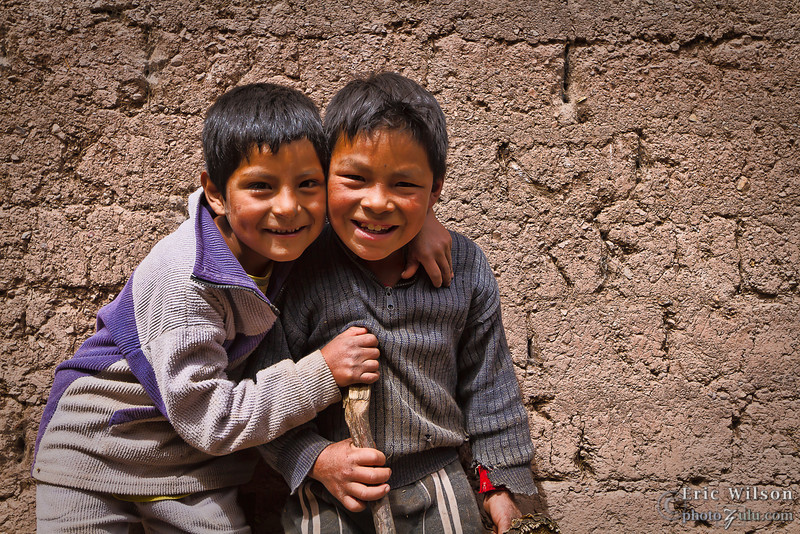"""Village boys.&nbsp;<br><br><span class=""""subcaption"""">(These boys followed our group around and played a modified hide-and-seek everywhere we went. They did pause well for photos, though.)</span>"""