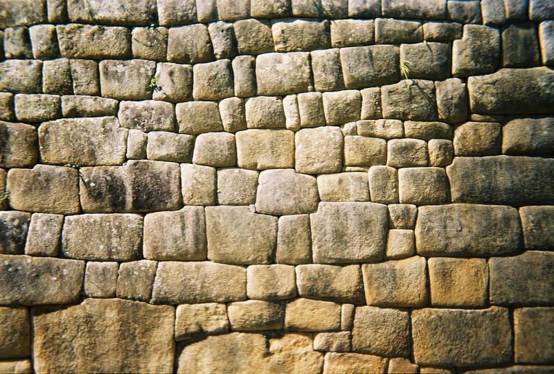 Inca Stonework, Machu Picchu, Peru
