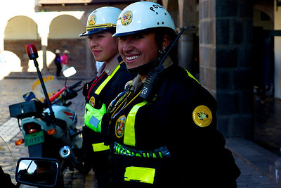 Cusco Peru police women