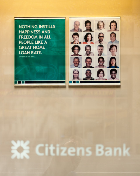 Terrible Citizens Bank Promo: Nothing instills happiness and freedom in all people like a great home loan rate.