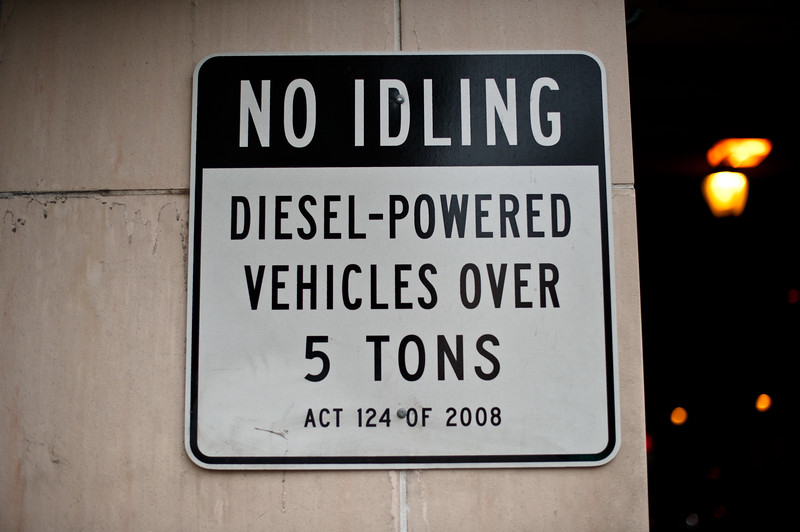 No Idling Diesel-powered vehicles over 5 tons.