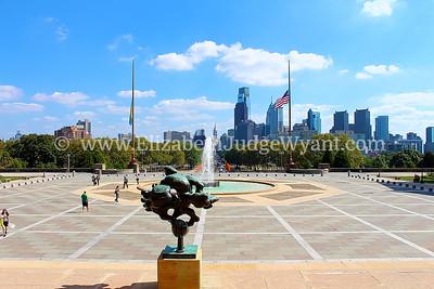 Museum of Art View Skyline, Philadelphia, PA