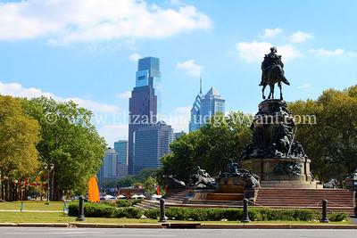Washington Monument & Fountain, Philadelphia, PA