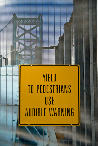 Yield To Pedestrians Use Audible Warning