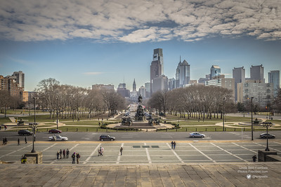 "Philly from the top of the ""Rocky"" steps."