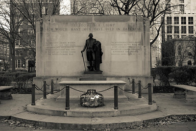 The Tomb of the Unknown Revolutionary War Soldier in Washington Square.
