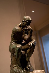 "This is THE Thinker by Rodin.  Only about 20"" tall too."