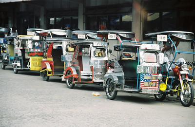 Tricycles.  The most popular form of public transportation along with jeepneys.