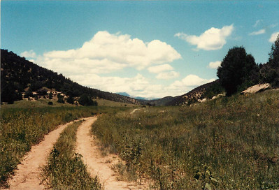N. Ponil Canyon with Little Castillo Peak in the background.