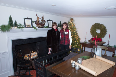Sisters Linda Tosco Masec, left and Carol Tosco Bruce were on hand in thes Leyden St. home to host Holiday House Tour visitors last Saturday. Wicked Local Photo/Denise Maccaferri
