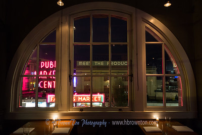 Pike Place Market Through the Windows Above