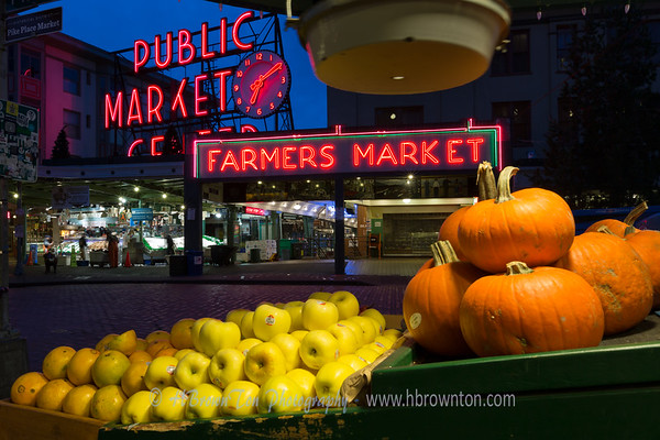 Before the Break of Dawn at Pike Place Market