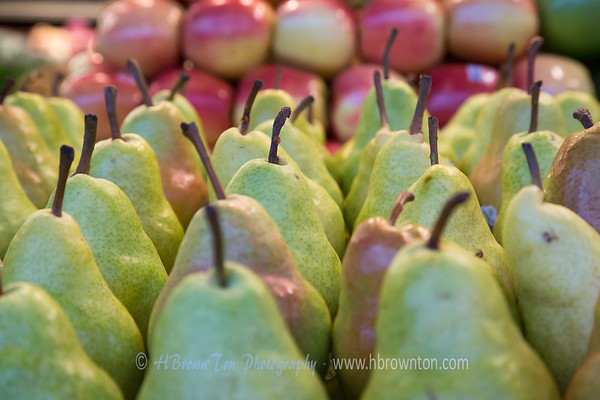 Green Anjou Pears and Honeycrips Apples