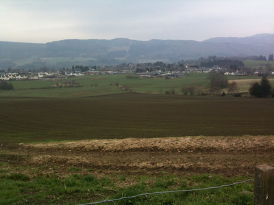 A view of Pitlochry from my run