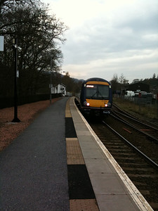 Scotish Rail Leaving Us In Pitlochry