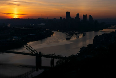 Pittsburgh Bathed in Purple