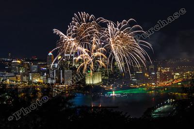 Pittsburgh Bicentennial Fireworks, July 9, 2016
