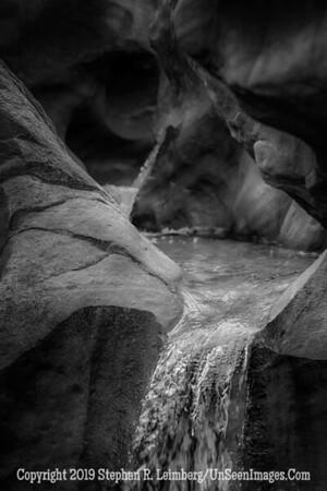 Fountain in the Mountain B&W  _H1R6225