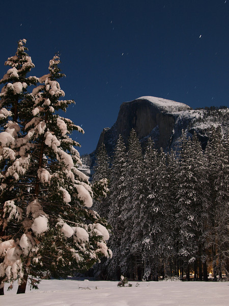 Moonlight on Half Dome.