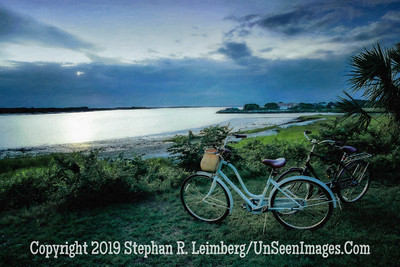 Bikes on River - Ft San Carlos PAINTING - Copyright 2015 Steve Leimberg - UnSeenImages Com _Z2A2140