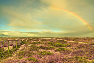 Rainbow on Amelia Island Beach Copyright 2021 Steve Leimberg UnSeenImages Com _Z2A8418
