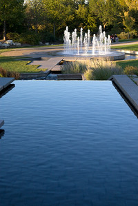 Looking down the water way at Jordan Valley Park, Springfield, MO