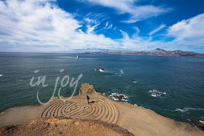 Labyrinth on the San Francisco Bay, California