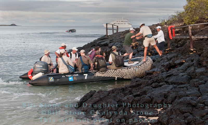Coming ashore-Dry Landing-Cerro Dragon-Galapagos