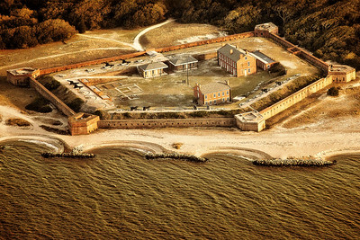 Fort Clinch from Air Copyright 2020 Steve Leimberg - UnSeenImages Com