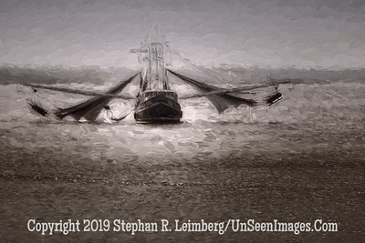 Shrimp Boat Nets Out - Copyright 2015 Steve Leimberg - UnSeenImages Com _Z2A1972