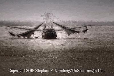 Shrimp Boat Nets Out - Copyright 2015 Steve Leimberg - UnSeenImages Com _Z2A1972