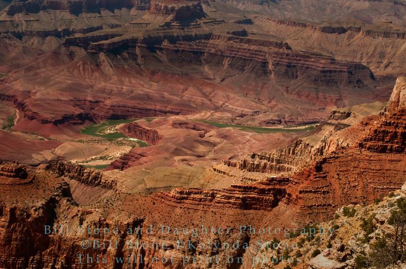 A glimpse of the Colorado River-Grand Canyon