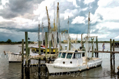 Shrimp Boats - PAINTING - Copyright 2016 Steve Leimberg - UnSeenImages Com L1000665