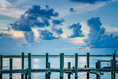 Clouds and Pier Copyright 2020 Steve Leimberg UnSeenImages Com _DSC1671