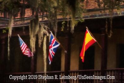 Flags Across from Plaza de la Constitution - Copyright 2015 Steve Leimberg - UnSeenImages Com _Z2A3952