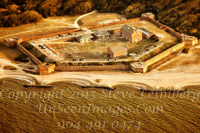 Fort Clinch from Air Copyright 2016 Steve Leimberg - UnSeenImages Com
