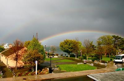 Rainbow Over Harbor